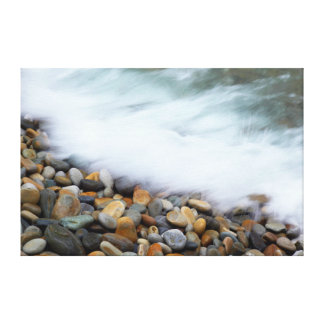 Waves Breaking Onto Pebbles, Tsitsikamma Canvas Print