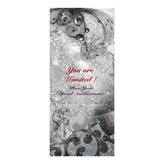 WAVES bright black and white sparkles Personalized Announcements