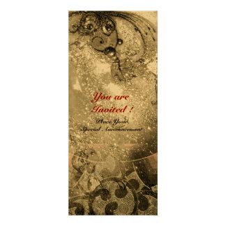 WAVES bright gold metallic black white sparkles Personalized Invitation