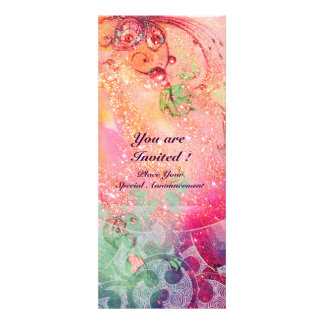 WAVES bright red green blue pink gold sparkles Custom Invitations