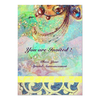 WAVES , bright red green yellow blue pink sparkles Invitations