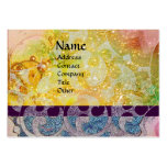 WAVES bright , vibrant ,yellow ,blue sparkles Business Card Templates
