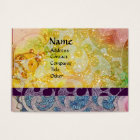WAVES bright , vibrant ,yellow ,blue sparkles Business Card