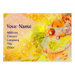 WAVES, bright vibrant yellow blue sparkles Business Card Template