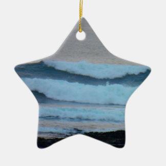 Waves Christmas Ornament
