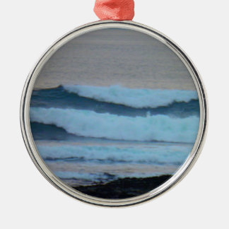 Waves Christmas Ornament