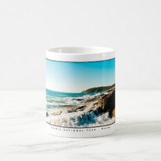 Waves Crashing at Acadia Coffee Mug