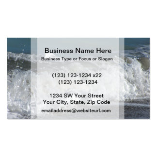 Waves crashing on Florida beach Business Cards