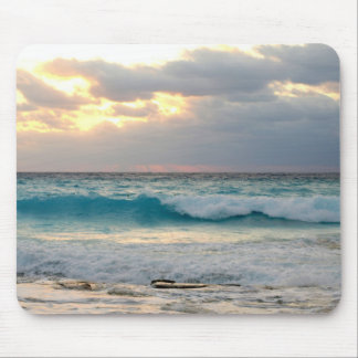 waves crashing on the shore mouse pad