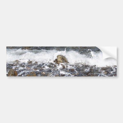 Waves Crashing To The Shore Car Bumper Sticker