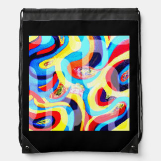 Waves Drawstring Bag