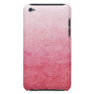 Waves Etching Carved Pattern Rose Gold Pink Case iPod Touch Cases