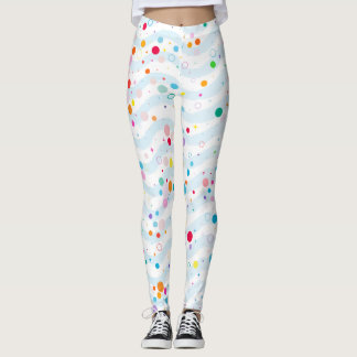 Waves -happy dots- leggings