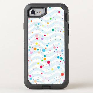 Waves -happy dots- OtterBox defender iPhone 8/7 case