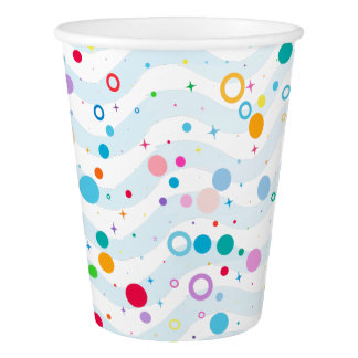 Waves -happy dots- paper cup