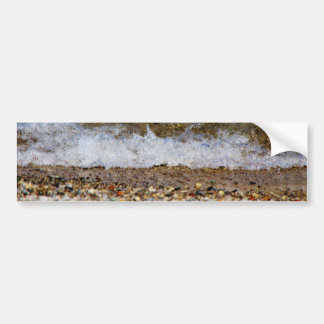 Waves Hitting the Beach Shore Bumper Sticker