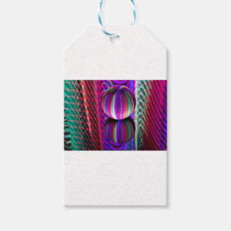 Waves in crystal ball gift tags