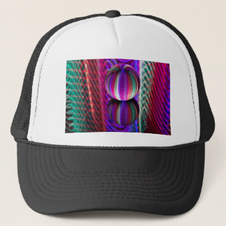 Waves in crystal ball trucker hat