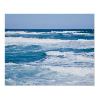 Waves in Mediterranean Sea, Mallorca, Spain Poster