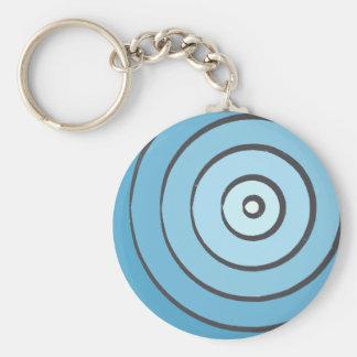 Waves Indigo Keychain