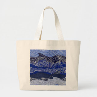 Waves Large Tote Bag