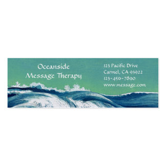 Waves Mini Business & Appointment Card Pack Of Skinny Business Cards