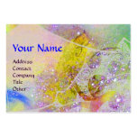 WAVES  MONOGRAM, bright yellow green blue purple Business Cards