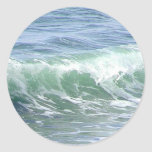 Waves Ocean Foam Water Round Stickers