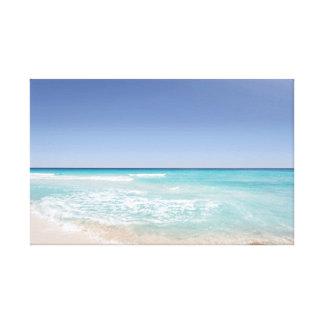 Waves | Ocean | Sky | Beach Canvas Print