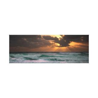 Waves | Ocean | Sky | Sun Canvas Print