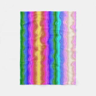 Waves of Colour Fleece Blanket