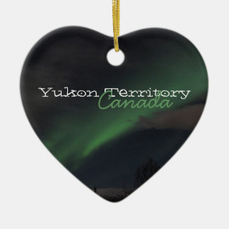 Waves of Green Light; Yukon Territory Souvenir Christmas Ornament