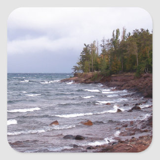 Waves of Lake Superior Square Sticker