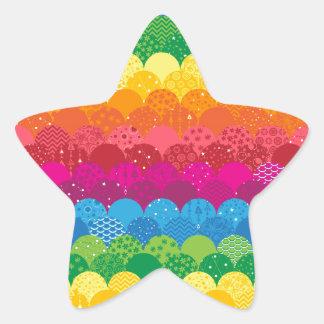 Waves of Rainbows Star Sticker