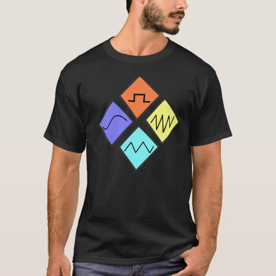 """Waves of sound"" is unique edm designed tshirt"