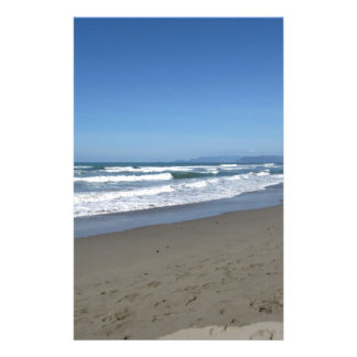 Waves of the sea on the sand beach stationery