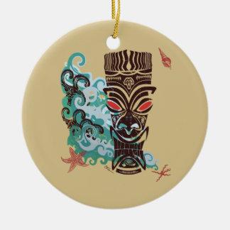 Waves of TIki Christmas Ornament