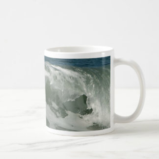 Waves Off Ocean Beach In San Diego Basic White Mug