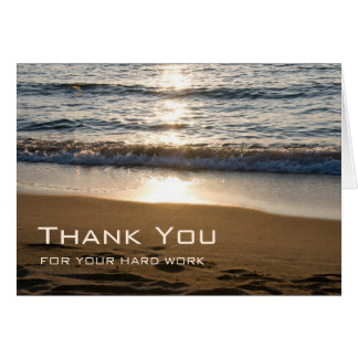 Waves on the Beach Employee Anniversary Card