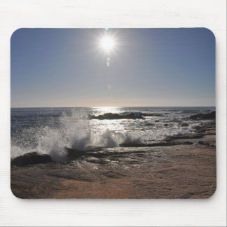 Waves on the Rocks Mouse Mat
