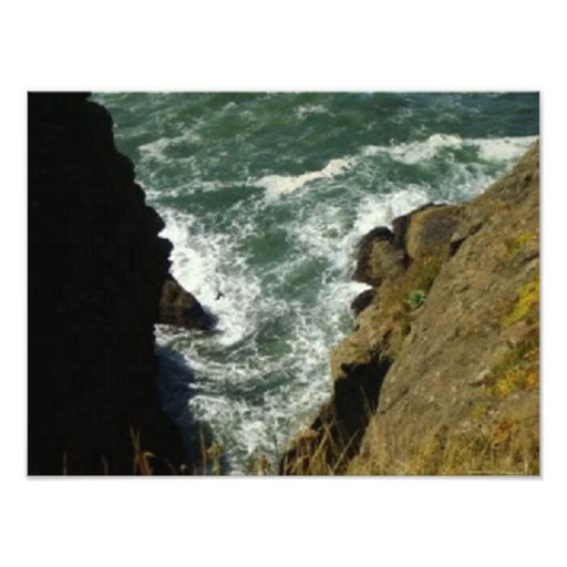 Waves On The Rocks Photo