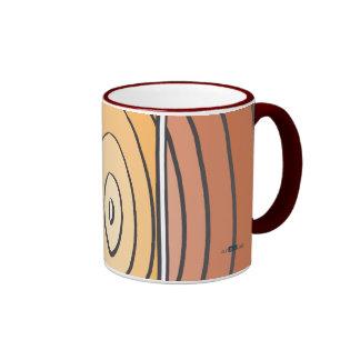 Waves Oranges Coffee Mugs