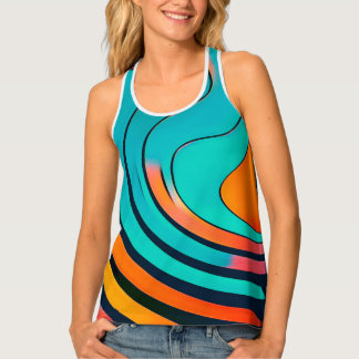 Waves Pattern #01 Tank Top