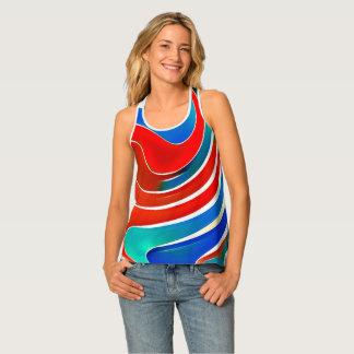 Waves-pattern# (2) tank top