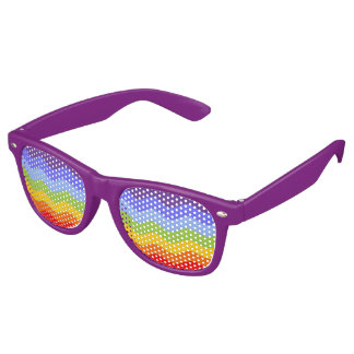 Waves Pattern - chakra rainbow colors Retro Sunglasses