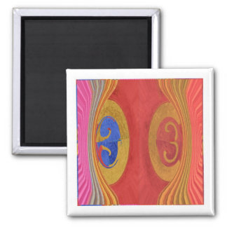Waves Pattern - Dramatic Curtain Raiser Square Magnet