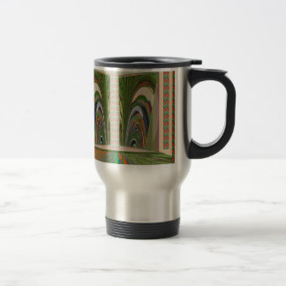 WAVES pattern made of leaf grass nature colors fun Coffee Mugs