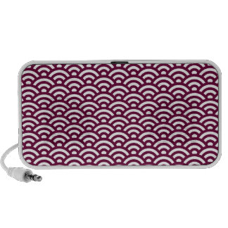Waves pattern laptop speaker