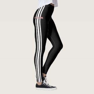 Waves Racer Leggings - White Stripe Edition