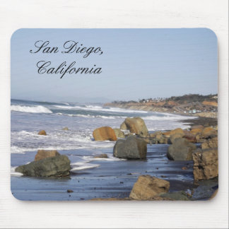 Waves & Rocks, San Diego, California Mouse Pads